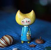 Куклы и игрушки ручной работы. Ярмарка Мастеров - ручная работа деревянная куколка Малютка Луна. Handmade.