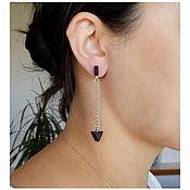 Украшения handmade. Livemaster - original item Black earrings chains.. Handmade.