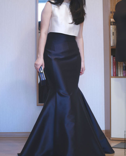Платья ручной работы. Ярмарка Мастеров - ручная работа. Купить комплект в стиле Black Tie. Handmade. Чёрно-белый, юбка