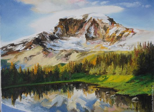 Горы Кавказа... купить картину маслом,картина, картины, картины маслом, масло, живопись маслом,  выбор картин, где купить картину, картина, картина маслом, картина в подарок