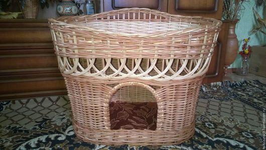 Аксессуары для кошек, ручной работы. Ярмарка Мастеров - ручная работа. Купить Плетеный домик для кошки. Handmade. Домик, корзинка