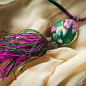 Украшения ручной работы. Ярмарка Мастеров - ручная работа Кулон из полимерной глины Секретный сад. Handmade.