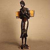 Для дома и интерьера ручной работы. Ярмарка Мастеров - ручная работа Статуэтка женщина с хворостом Африка - эбеновое дерево. Handmade.