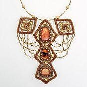 Украшения handmade. Livemaster - original item African sunset necklace made of carnelian and Swarovski. Handmade.