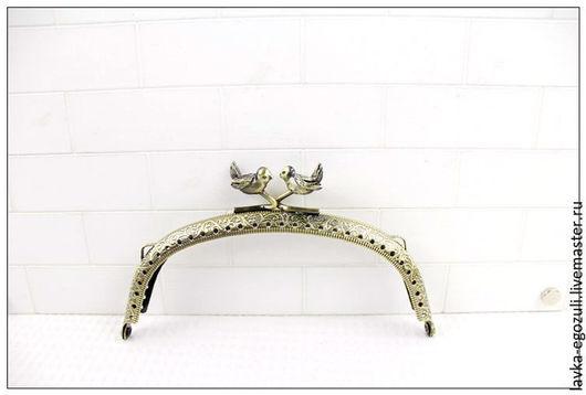 Другие виды рукоделия ручной работы. Ярмарка Мастеров - ручная работа. Купить Фермуар рамочный замок бронза 12,5 см. Handmade.