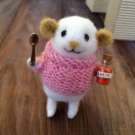 Игрушки животные, ручной работы. Ярмарка Мастеров - ручная работа. Купить Мышка с вареньем (валяная). Handmade. Мышь, мышка, мышонок