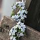 """Серьги ручной работы. Ярмарка Мастеров - ручная работа. Купить Серьги-кольца """"Незабудки"""". Handmade. Голубой, цветы ручной работы"""