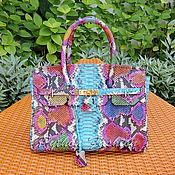 Сумки и аксессуары handmade. Livemaster - original item Bag made of Python ERMES. Handmade.