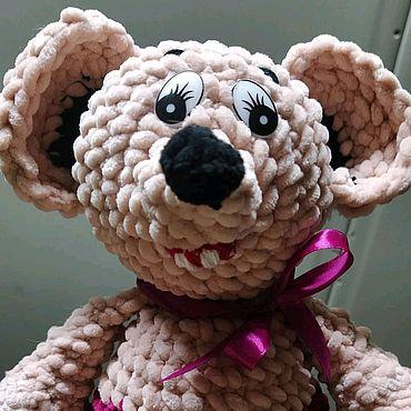 Куклы и игрушки ручной работы. Ярмарка Мастеров - ручная работа Вязаная игрушка: Мышь. Handmade.