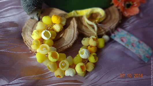 """Колье, бусы ручной работы. Ярмарка Мастеров - ручная работа. Купить Колье """"Солнечный Лимон"""". Handmade. Лимонный, фурнитура для украшений"""