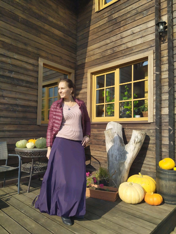 Юбка теплая на флисе Снежана фиолет, Юбки, Санкт-Петербург,  Фото №1