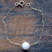 Украшения handmade. Livemaster - original item Gold bracelet with pearl. Handmade.