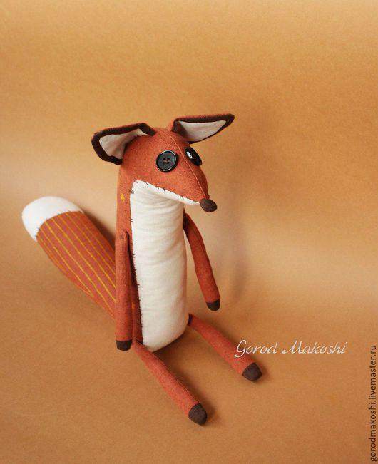 """Игрушки животные, ручной работы. Ярмарка Мастеров - ручная работа. Купить Лисенок из мультика """"Маленький принц"""". Handmade. Оранжевый"""