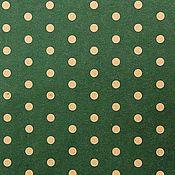 Материалы для творчества ручной работы. Ярмарка Мастеров - ручная работа Бумага крафт зеленая в горошек. Handmade.