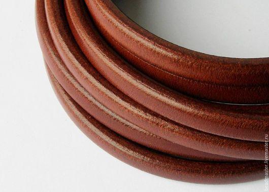 Для украшений ручной работы. Ярмарка Мастеров - ручная работа. Купить Шнур,кожаный,Регализ,ШР612. Handmade. Коричневый, регализ