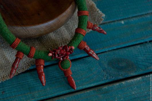 """Колье, бусы ручной работы. Ярмарка Мастеров - ручная работа. Купить Валяное колье """"Wild love"""". Handmade. Колье"""