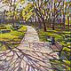 Диптих. Весенний Таллин. Stroomi Park. Правая часть, Картины, Москва,  Фото №1