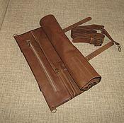 Сумки и аксессуары handmade. Livemaster - original item CASE: Organizer: Leather twist for 9 knives. Handmade.