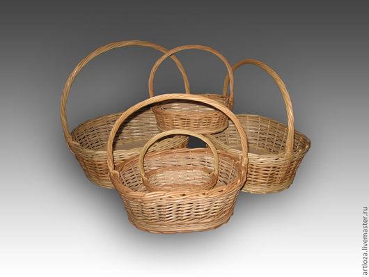 Корзины, коробы ручной работы. Ярмарка Мастеров - ручная работа. Купить Корзина плетеная из натуральной лозы овальной формы. Handmade.