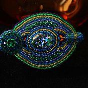 Украшения handmade. Livemaster - original item Embroidered brooch-brooch vintage style Mysterious circles. Handmade.