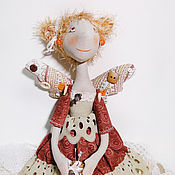 Куклы и игрушки ручной работы. Ярмарка Мастеров - ручная работа Кукла фейка-швейка Рыжинка. Handmade.
