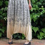 Одежда ручной работы. Ярмарка Мастеров - ручная работа Трикотажные штаны как юбка летние. Handmade.