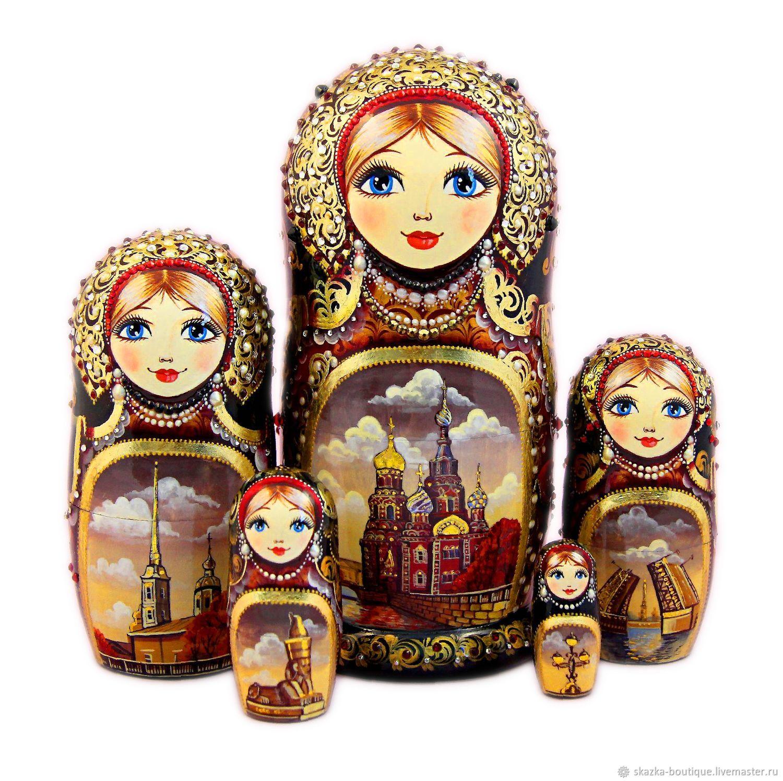 Матрешка с видами города, Матрешки, Санкт-Петербург,  Фото №1