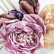 Украшения ручной работы. Ярмарка Мастеров - ручная работа Бутоньерка из роз. Handmade.