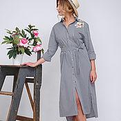 """Одежда ручной работы. Ярмарка Мастеров - ручная работа Платье-рубашка """"Оверсайз"""". Handmade."""