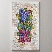 Картины и панно handmade. Livemaster - original item Cross stitch Grapevine. Handmade.
