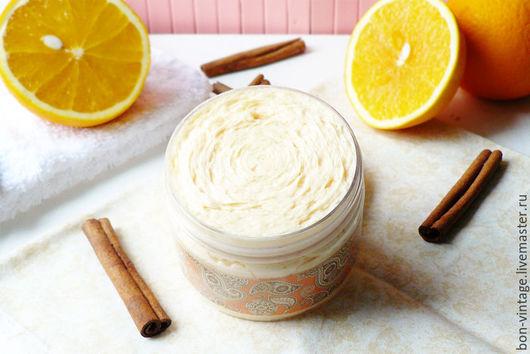 Пена, молочко для ванны ручной работы. Ярмарка Мастеров - ручная работа. Купить Апельсин-корица - большое суфле для душа. Handmade.