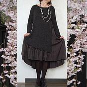 Одежда ручной работы. Ярмарка Мастеров - ручная работа Нарядное шерстяное платье Ди в стиле бохо. Handmade.