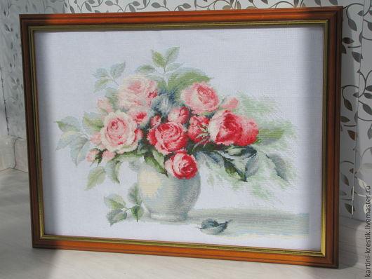 Картины цветов ручной работы. Ярмарка Мастеров - ручная работа. Купить Чайные розы. Handmade. Разноцветный, розы