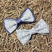 Галстуки ручной работы. Ярмарка Мастеров - ручная работа Бабочка в серо-сиреневых тонах. Handmade.