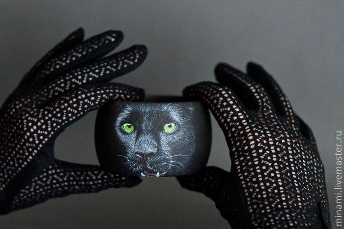 пантера с зелеными глазами