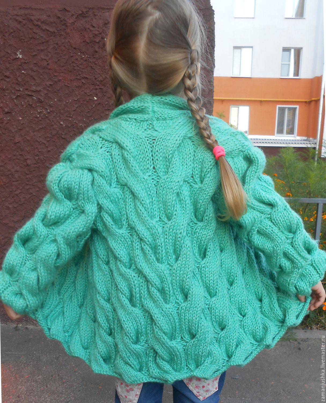 Вязание детских кардиганов для девочек 859