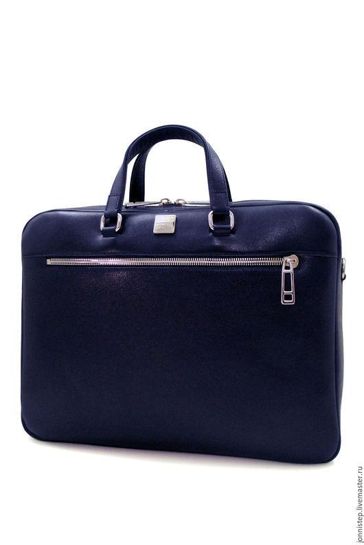 Мужские сумки ручной работы. Ярмарка Мастеров - ручная работа. Купить Повседневная сумка Bolivar. Handmade. Тёмно-синий