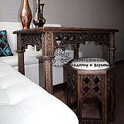 Для дома и интерьера handmade. Livemaster - original item Stool-stool made of oak in a Moroccan style. Handmade.