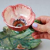 """Посуда handmade. Livemaster - original item Чайная пара """"Ботаническая"""". Handmade."""