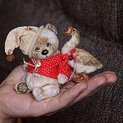 Куклы и игрушки ручной работы. Ярмарка Мастеров - ручная работа Домовенок Кузя и Гусь. Handmade.