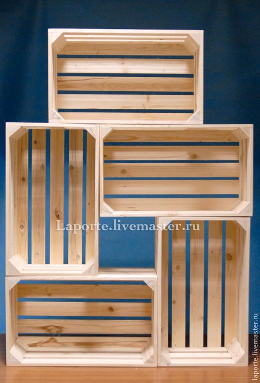 Древянный реечный ящик, заготовка для творческих работ, подойдет как для интерьера, так и для подарочного набора