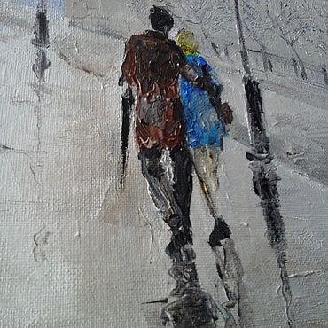 Картины и панно ручной работы. Ярмарка Мастеров - ручная работа Картины: Холст масло мастихин Биг Бен. Handmade.