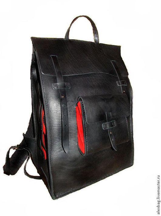 Рюкзаки ручной работы. Ярмарка Мастеров - ручная работа. Купить Рюкзак большой черный, Big black backpack. Handmade. Черный, большой рюкзак