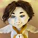Коллекционные куклы ручной работы. Ярмарка Мастеров - ручная работа. Купить Ангел. Handmade. Белый, войлочная игрушка, ресницы искусственные