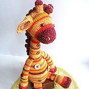 Мягкие игрушки ручной работы. Ярмарка Мастеров - ручная работа Вязаная игрушка Солнечный Жирафик. Handmade.