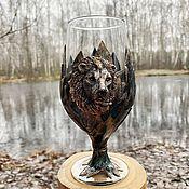Посуда handmade. Livemaster - original item Beer glass 450 ml Lev. Handmade.