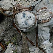 Куклы и игрушки ручной работы. Ярмарка Мастеров - ручная работа Брошенная кукла. Малыш в костюме зайца.. Handmade.