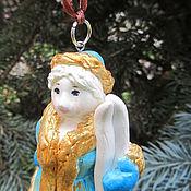 Елочные игрушки ручной работы. Ярмарка Мастеров - ручная работа Дед Мороз и Снегурочка. Handmade.