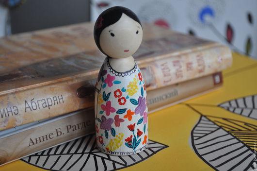 Вальдорфская игрушка ручной работы. Ярмарка Мастеров - ручная работа. Купить куколка из дерева. Handmade. Деревянная игрушка, вальдорфская кукла