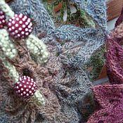 """Одежда ручной работы. Ярмарка Мастеров - ручная работа Пончо """"Лесные ягоды"""". Handmade."""